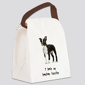I Love My Boston Terrier Canvas Lunch Bag