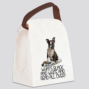 FIN-boston-terrier-riddle Canvas Lunch Bag