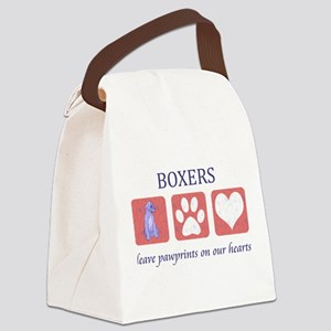 FIN-boxer-pawprints Canvas Lunch Bag
