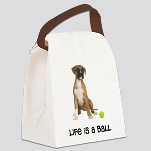 FIN-boxer-fawn-life Canvas Lunch Bag
