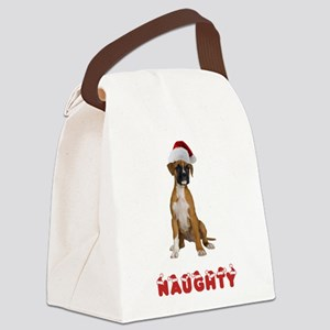 FIN-boxer-puppy-naughty Canvas Lunch Bag