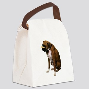 boxer-bone-photo.pn... Canvas Lunch Bag