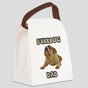 FIN-bulldog-lying-dad Canvas Lunch Bag