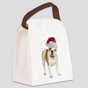 FIN-santa-bulldog-TRANS Canvas Lunch Bag