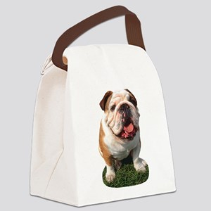 FIN-bulldog-photo.p... Canvas Lunch Bag
