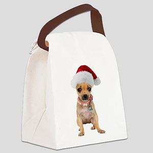 FIN-chihuahua-santa2 Canvas Lunch Bag