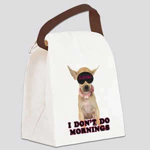 FIN-chihuahua-mornings Canvas Lunch Bag