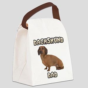 Dachshund Dad Canvas Lunch Bag