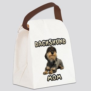 Wirehaired Dachshund Mom Canvas Lunch Bag