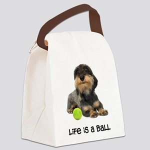 FIN-wirehaired-dachshund-life Canvas Lunch Bag