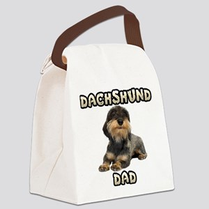 Wirehaired Dachshund Dad Canvas Lunch Bag