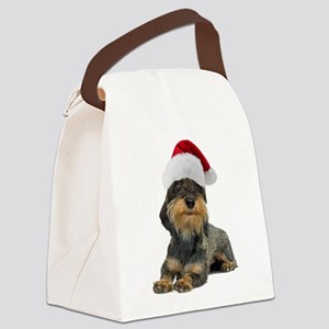 FIN-wirehaired-dachshund-santa-CROP Canvas Lun