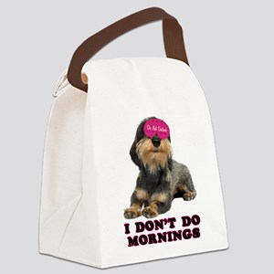FIN-wirehaired-dachshund-mornings Canvas Lunch