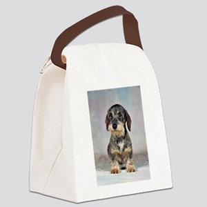 FIN-wirehaired-dachshund-PRINT-9x12 Canvas Lun