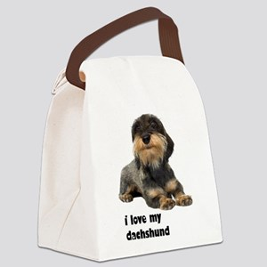 FIN-wirehaired-dachshund-love Canvas Lunch Bag