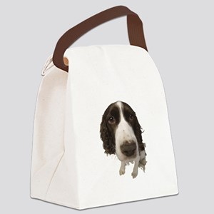 FIN-springer-spaniel-closeup Canvas Lunch Bag