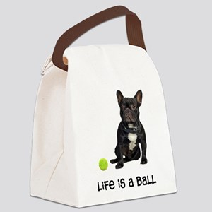 French Bulldog Life Canvas Lunch Bag