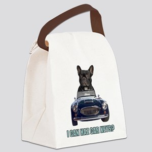 FIN-french-bulldog-car-keys Canvas Lunch Bag