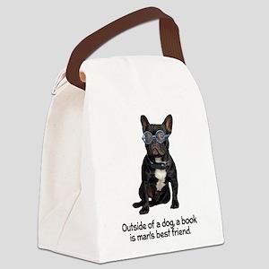FIN-french-bulldog-best-friend Canvas Lunch Ba