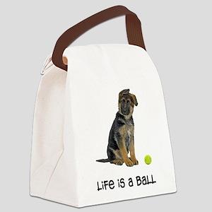 FIN-german-shepherd-puppy-life Canvas Lunch Ba