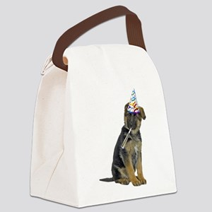 FIN-german-shepherd-party Canvas Lunch Bag