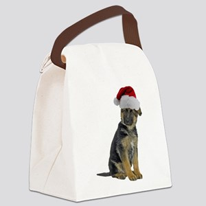 FIN-german-shepherd-santa-CROP Canvas Lunch Ba