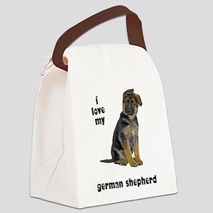 FIN-german-shepherd-puppy-love Canvas Lunch Ba