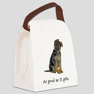 FIN-german-shepherd-puppy-good Canvas Lunch Ba