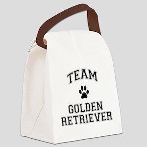 Team Golden Retriever Canvas Lunch Bag