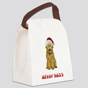 Goldendoodle Christmas Canvas Lunch Bag