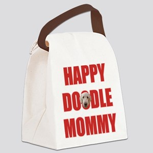 FIN-happy-doodle-mommy Canvas Lunch Bag