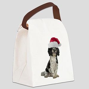 FIN-santa-havanese Canvas Lunch Bag