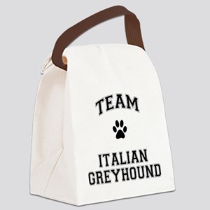 Team Italian Greyhound Canvas Lunch Bag