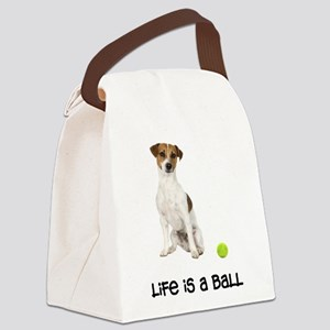 Jack Russell Terrier Life Canvas Lunch Bag