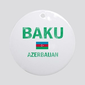 Baku Azerbaijan Designs Ornament (Round)