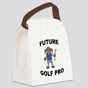 FIN-future-golf-pro-girl Canvas Lunch Bag