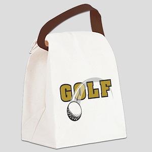 logo-golf Canvas Lunch Bag