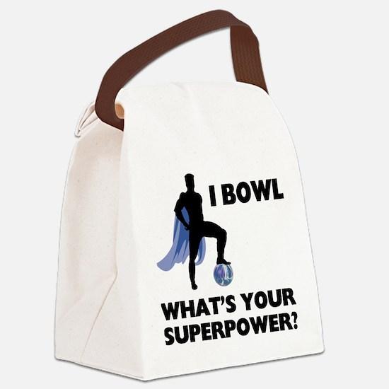 Bowling Superhero Canvas Lunch Bag