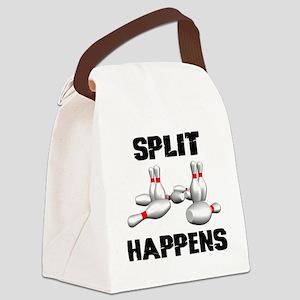 Split Happens Bowling Canvas Lunch Bag
