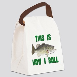 FIN-this is how I roll bass Canvas Lunch Bag
