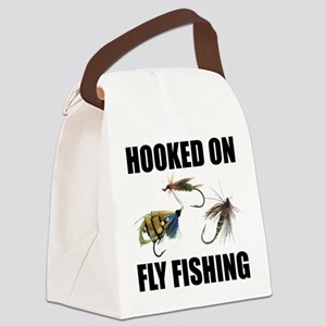 FIN-hooked fly fishing Canvas Lunch Bag