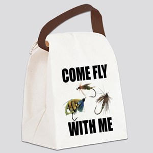 FIN-come fly Canvas Lunch Bag