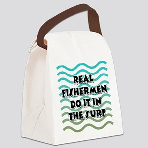 FIN-real-fishermen-surf Canvas Lunch Bag