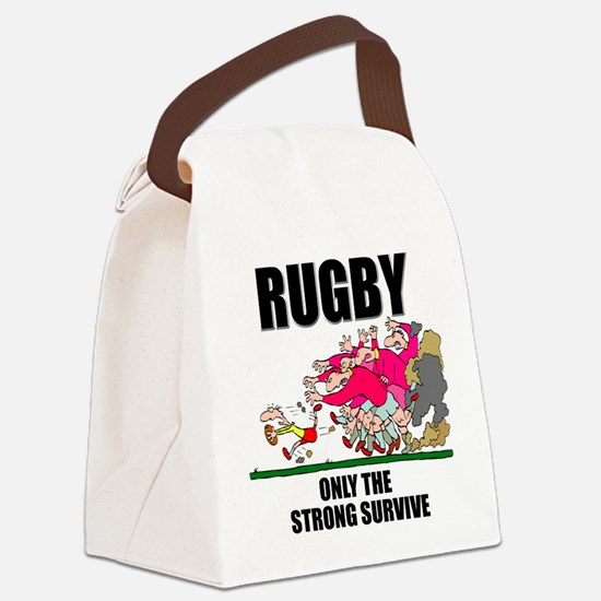 FIN-rugby only the strong.png Canvas Lunch Bag