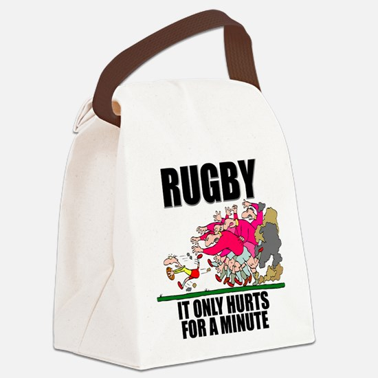 FIN-rugby only hurts.png Canvas Lunch Bag