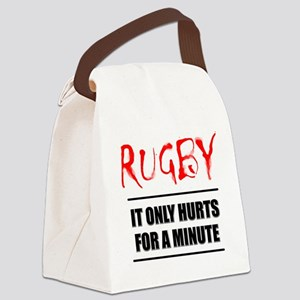 FIN-rugby only hurts text Canvas Lunch Bag