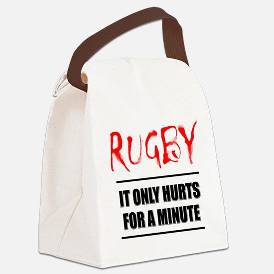 FIN-rugby only hurts text.png Canvas Lunch Bag