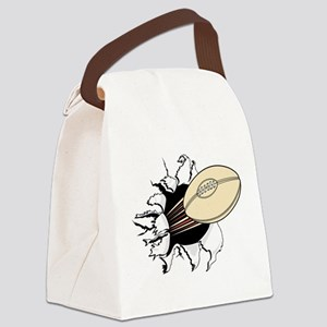 FIN-rugby-ball-tearing Canvas Lunch Bag