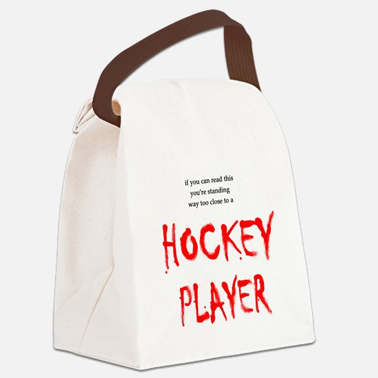 FIN-way too close hockey.png Canvas Lunch Bag