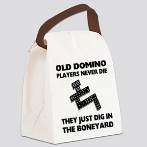 FIN-domino-players-never-die Canvas Lunch Bag